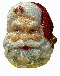 Santa Face Wall Hanging